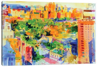 Central Park From The Carlyle Canvas Art Print