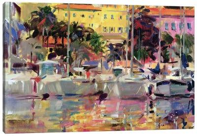 Golden Harbour Vista Canvas Art Print