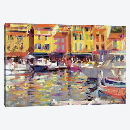 Harbour At Cassis Canvas Print #BMN11735} by Peter Graham Canvas Print