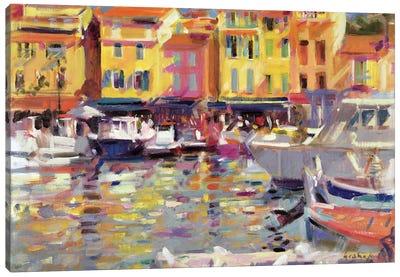 Harbour At Cassis Canvas Art Print