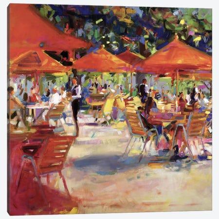 Le Cafe du Jardin Canvas Print #BMN11746} by Peter Graham Canvas Wall Art