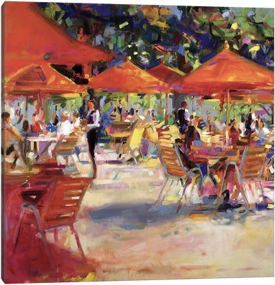Le Cafe du Jardin Canvas Art Print