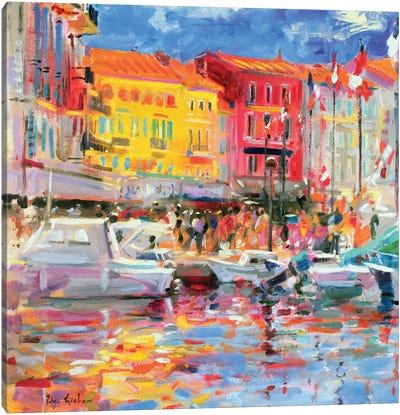 Le Port de St. Tropez, 2002 Canvas Art Print