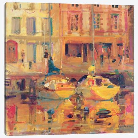 Les Deux Bateaux Canvas Print #BMN11749} by Peter Graham Art Print