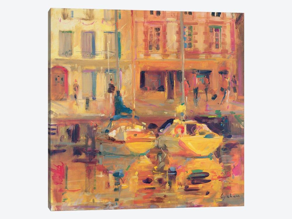 Les Deux Bateaux by Peter Graham 1-piece Canvas Artwork