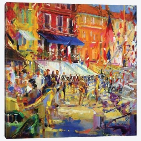 Port Promenade, Saint-Tropez Canvas Print #BMN11761} by Peter Graham Art Print