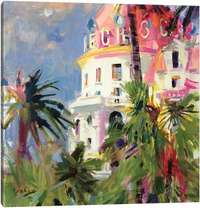 Riviera Balcony, 2002 Canvas Art Print