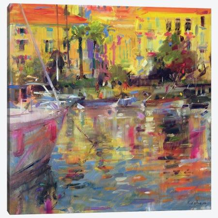 Riviera Moorings Canvas Print #BMN11764} by Peter Graham Canvas Art