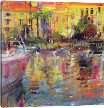 Riviera Moorings Canvas Art Print