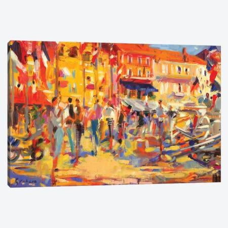St. Tropez Promenade Canvas Print #BMN11769} by Peter Graham Art Print