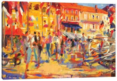 St. Tropez Promenade Canvas Art Print