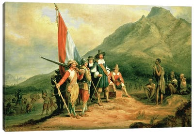The Landing of Jan van Riebeeck  Canvas Art Print