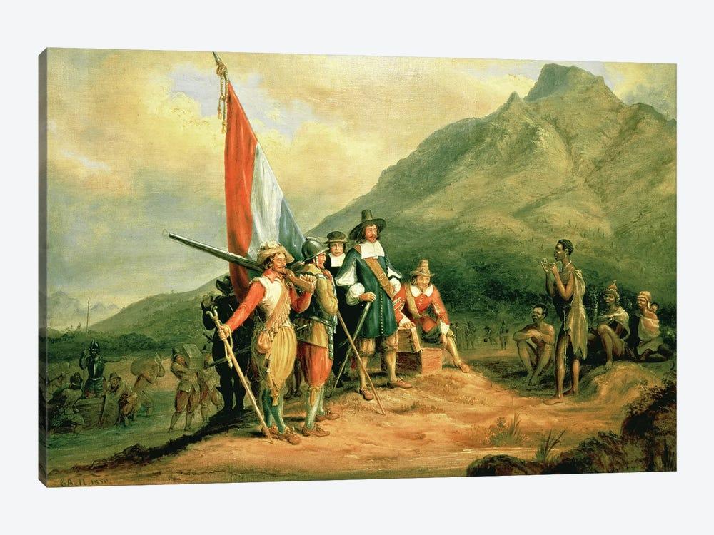 The Landing of Jan van Riebeeck  by Charles Bell 1-piece Art Print
