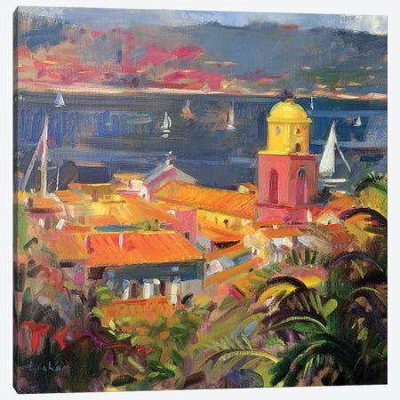 St. Tropez Sailing, 2002 Canvas Print #BMN11770} by Peter Graham Canvas Wall Art