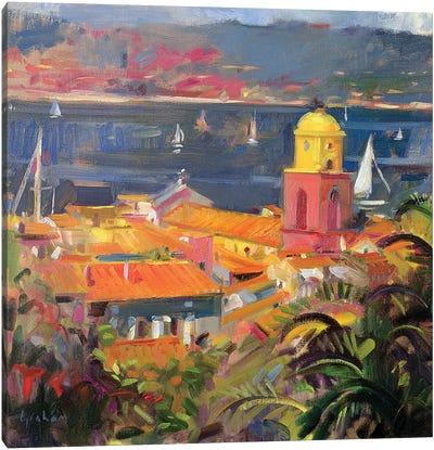 St. Tropez Sailing, 2002 Canvas Art Print
