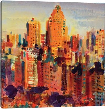 Upper Manhattan, 2000 Canvas Art Print