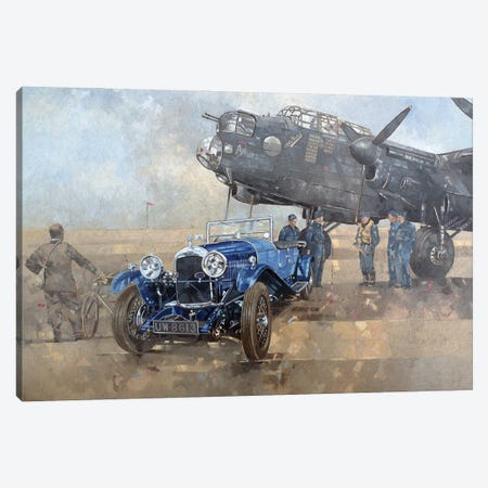 Able Mable And The Blue Lagonda Canvas Print #BMN11792} by Peter Miller Canvas Wall Art