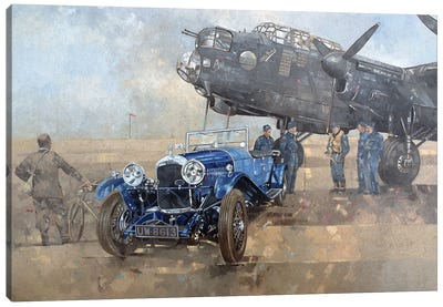 Able Mable And The Blue Lagonda Canvas Art Print
