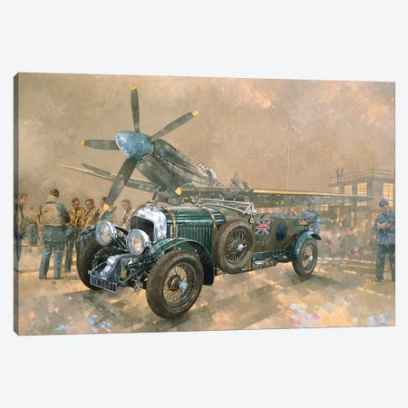 Bentley And Spitfire Canvas Print #BMN11794} by Peter Miller Canvas Art Print