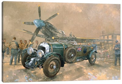 Bentley And Spitfire Canvas Art Print