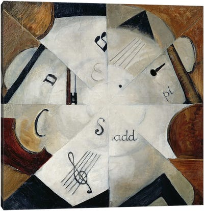 Symphony, 1915 (oil on canvas) Canvas Art Print