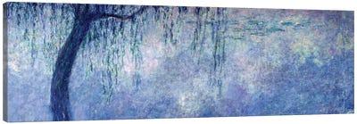 Waterlilies: Two Weeping Willows, left section, 1914-18   Canvas Art Print