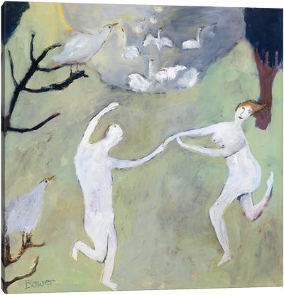 Swan Lake, 2008 Canvas Art Print