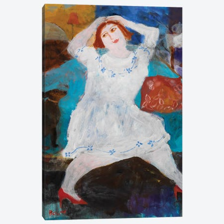 The Red Shoes, 2004 Canvas Print #BMN11817} by Susan Bower Canvas Wall Art