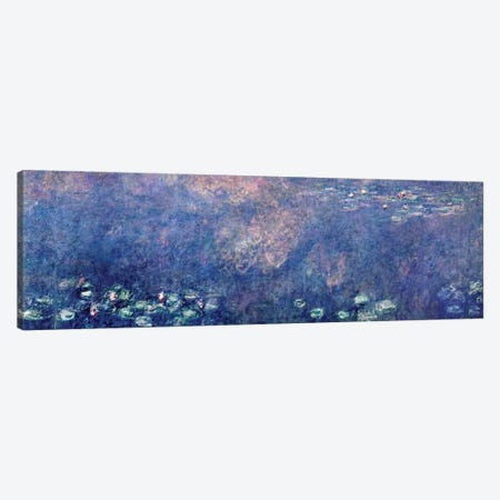 Waterlilies: Two Weeping Willows, centre left section, 1914-18   Canvas Print #BMN1181} by Claude Monet Art Print