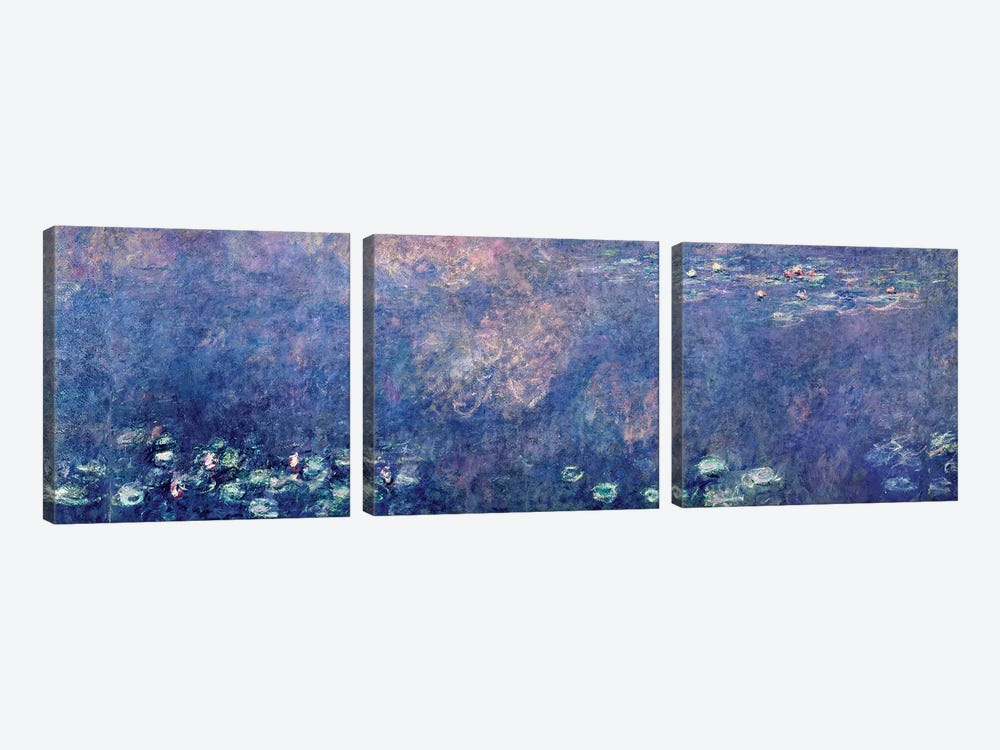 Waterlilies: Two Weeping Willows, centre left section, 1914-18   by Claude Monet 3-piece Art Print