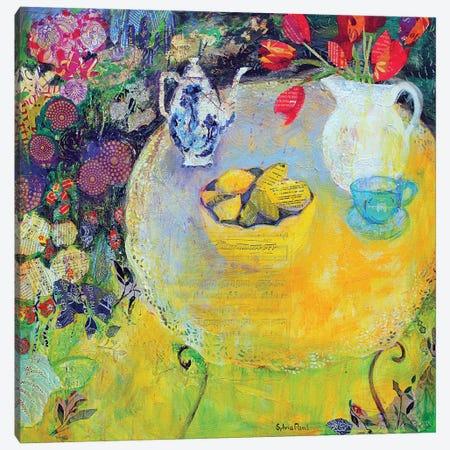 Lemon Tea In The Garden Canvas Print #BMN11827} by Sylvia Paul Canvas Print