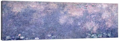 Waterlilies: Two Weeping Willows, centre right section, 1914-18   Canvas Art Print