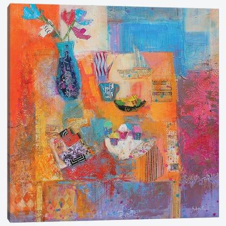 Summer Table Canvas Print #BMN11833} by Sylvia Paul Canvas Art Print