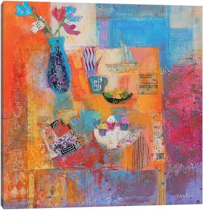 Summer Table Canvas Art Print