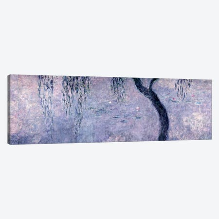 Waterlilies: Two Weeping Willows, right section, 1914-18   Canvas Print #BMN1183} by Claude Monet Canvas Print