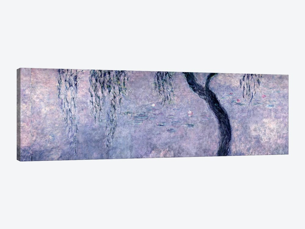 Waterlilies: Two Weeping Willows, right section, 1914-18   by Claude Monet 1-piece Canvas Art Print