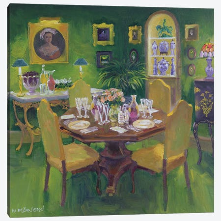 Dinner Party Canvas Print #BMN11841} by William Ireland Canvas Wall Art