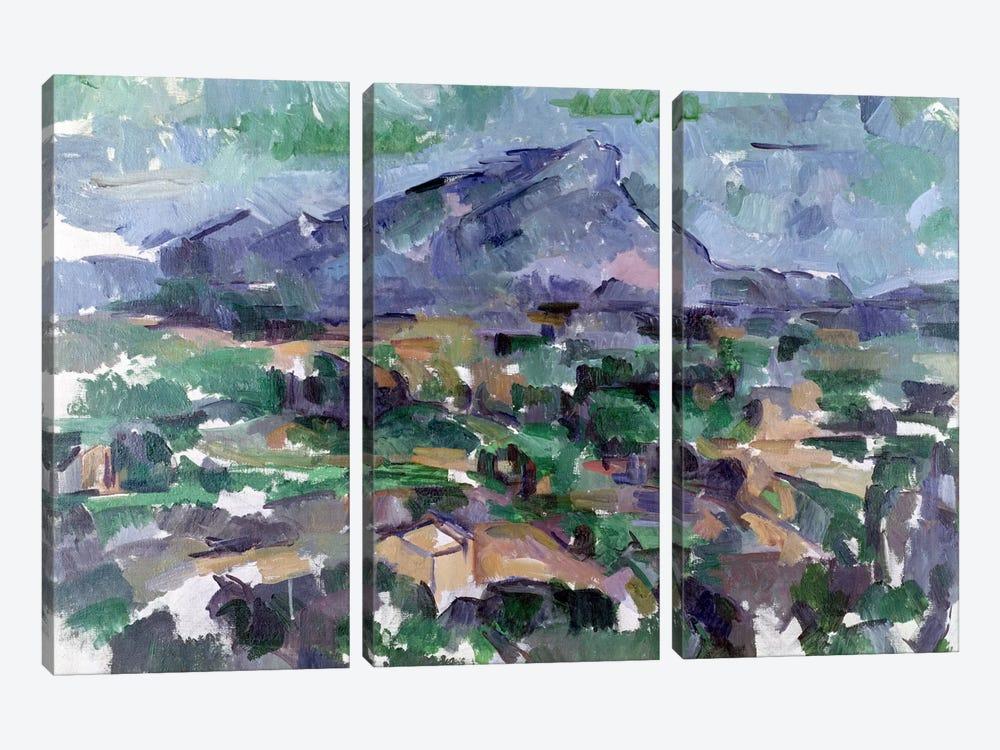 Montagne Sainte-Victoire, 1904-06  by Paul Cezanne 3-piece Canvas Artwork