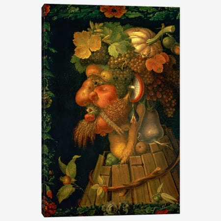 Autumn, From A Series Depicting The Four Seasons, 1573 Canvas Print #BMN11855} by Giuseppe Arcimboldo Canvas Wall Art