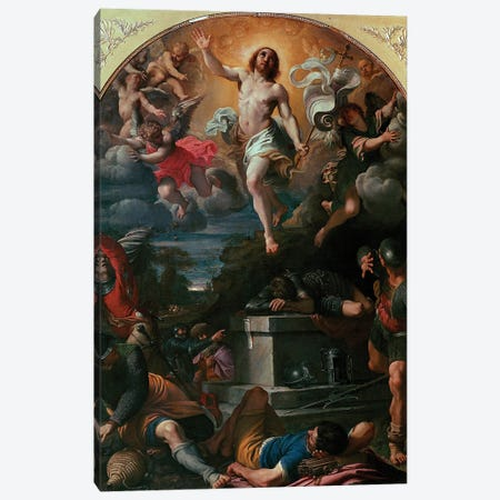 The Resurrection Of Christ Painting, 1593 Canvas Print #BMN11857} by Annibale Carracci Canvas Art