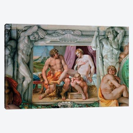 Venus And Anchise Fresco, 1597-1600 Canvas Print #BMN11859} by Annibale Carracci Art Print