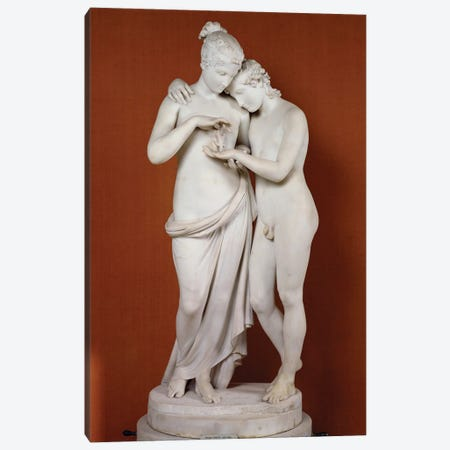 Cupid And Psyche Canvas Print #BMN11860} by Antonio Canova Canvas Artwork