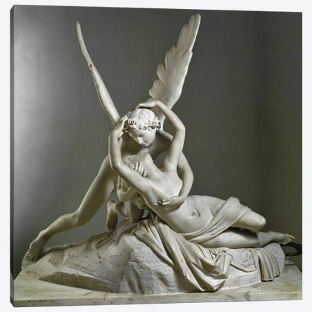 L'Amour Savant Psychee, 1787-1793 Canvas Print #BMN11863} by Antonio Canova Canvas Art