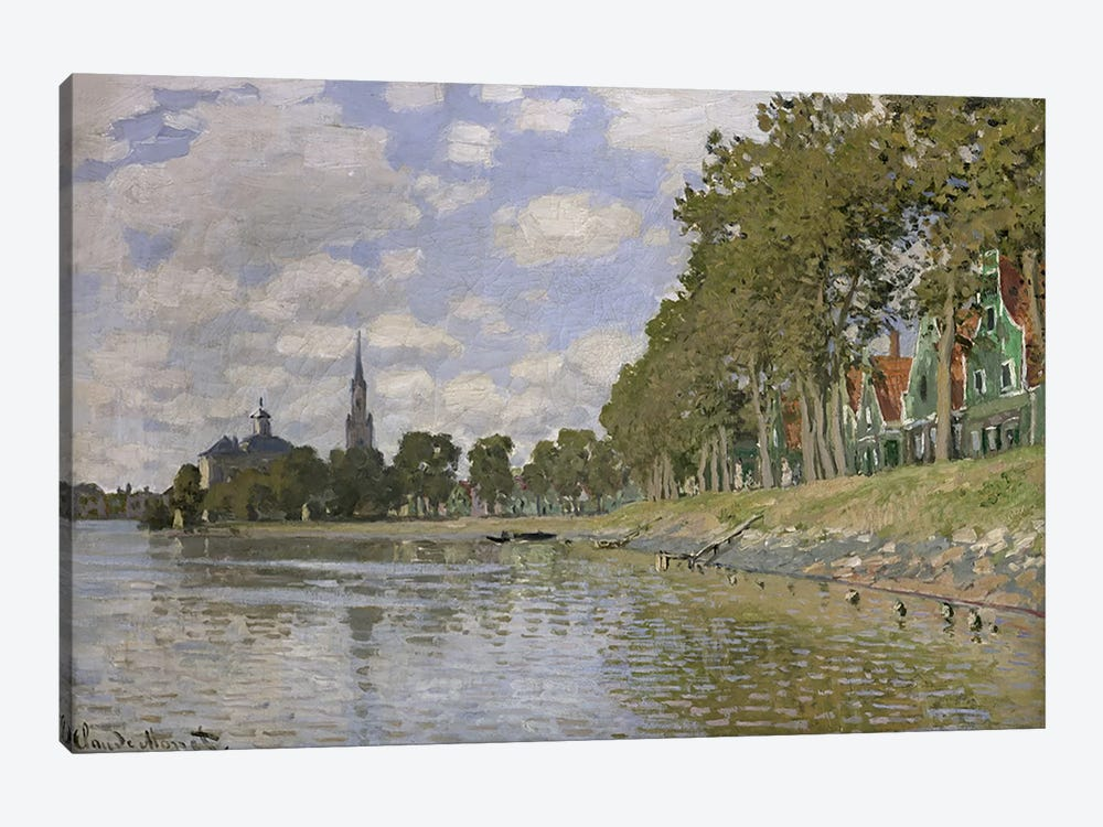 Zaandam  by Claude Monet 1-piece Canvas Art