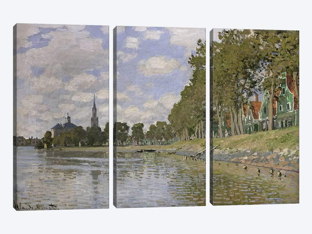 Zaandam by Claude Monet 3-piece Canvas Art