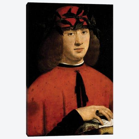 Portrait Of The Poet Girolamo Casio, 1495 Canvas Print #BMN11883} by Giovanni Antonio Boltraffio Canvas Wall Art