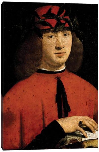 Portrait Of The Poet Girolamo Casio, 1495 Canvas Art Print