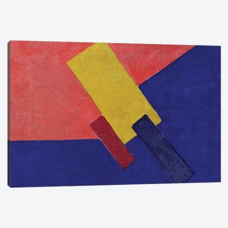 Composition, 1918 (oil on canvas) Canvas Print #BMN118} by Olga Vladimirovna Rozanova Canvas Wall Art
