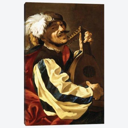 A Lute Player Canvas Print #BMN11900} by Hendrick Ter Brugghen Canvas Print