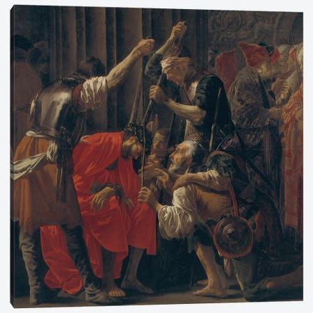 Christ Crowned With Thorns, 1620 Canvas Print #BMN11907} by Hendrick Ter Brugghen Canvas Art